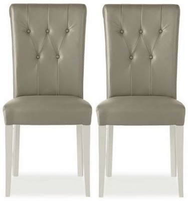 Buy Bentley Designs Hampstead Soft Grey And Weathered Oak Throughout Oak Leather Dining Chairs (Image 5 of 25)