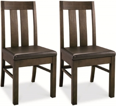 Buy Bentley Designs Lyon Walnut Brown Faux Leather Slatted Dining In Dining Chairs (Image 2 of 25)