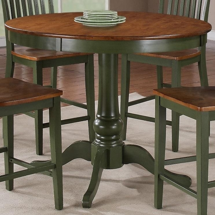 Buy Candice Round Counter Pedestal Tablesteve Silver From Www Regarding Candice Ii Round Dining Tables (Image 2 of 25)