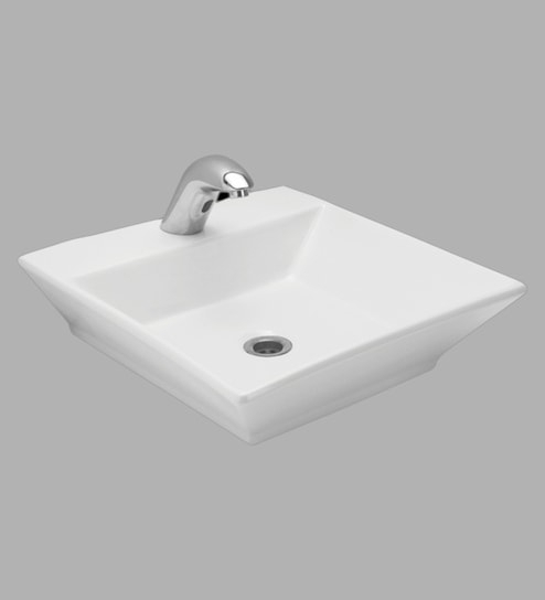 Buy Cera Caden White Ceramic Table Top Wash Basin Online – Basins With Regard To Caden Rectangle Dining Tables (View 23 of 25)