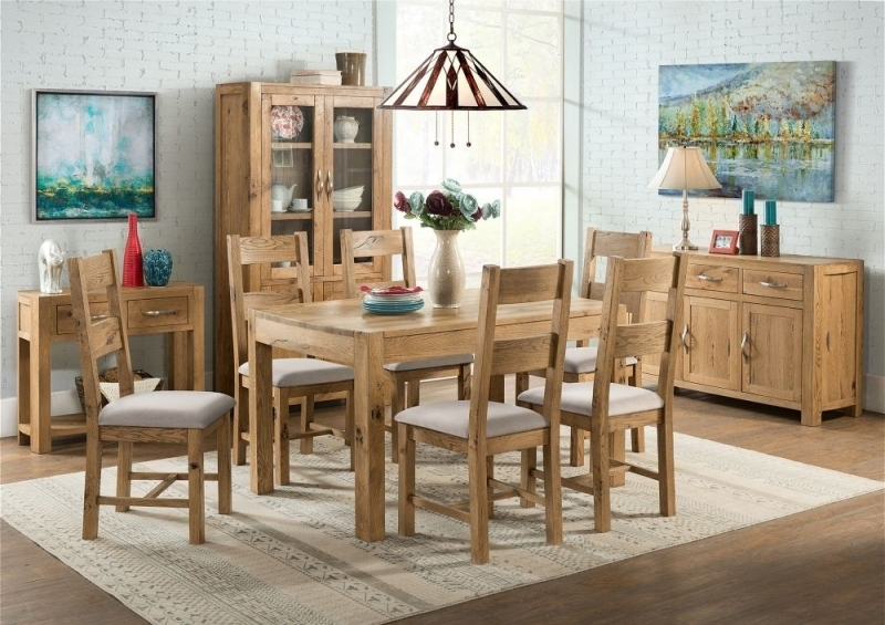 Buy Devonshire Como Oak Rectangular Extending Dining Table – 125Cm Regarding Como Dining Tables (Image 4 of 25)