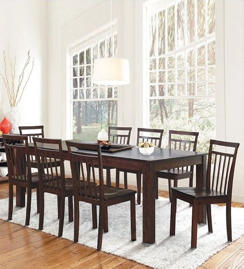 Buy Eight Seater Dining Set In Cappuccino Finishdhep Furniture Inside Dining Tables For Eight (Image 3 of 25)