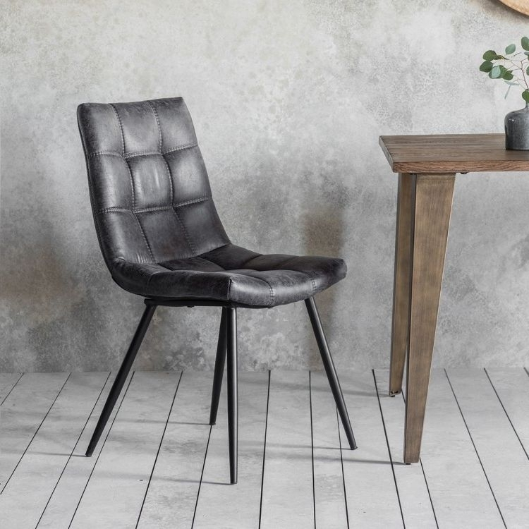 Buy Gallery Direct Darwin Grey Dining Chair (Pair) Online – Cfs Uk For Grey Dining Chairs (Image 3 of 25)