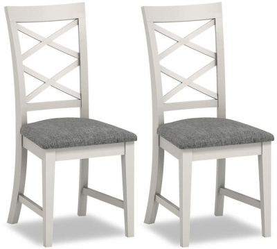 Buy Global Home Chester Painted Cross Back Dining Chair (Pair With Regard To Chester Dining Chairs (Image 2 of 25)