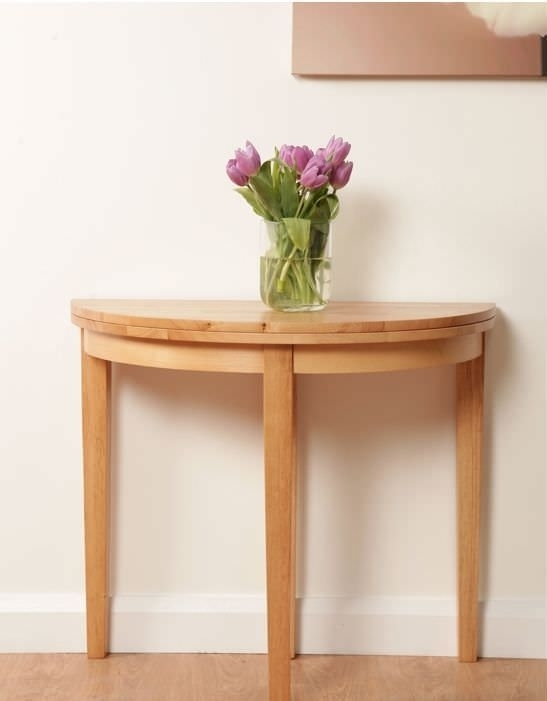 Buy Hanover Half Moon Dining Table – 90Cm Online – Cfs Uk With Regard To Round Half Moon Dining Tables (Image 2 of 25)
