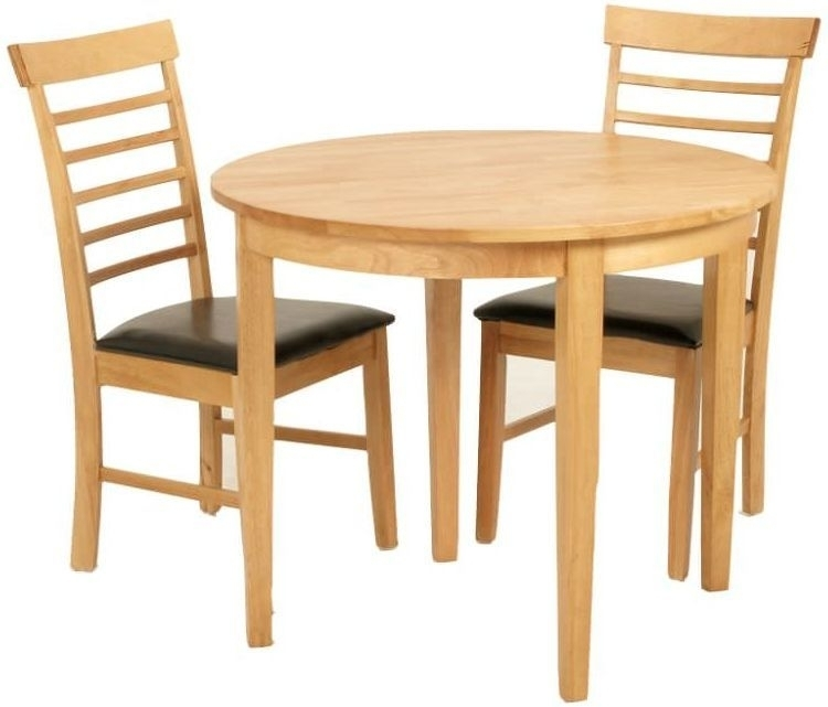 Buy Hanover Round Extending Half Moon Dining Set With 2 Chairs Inside Round Half Moon Dining Tables (Image 3 of 25)