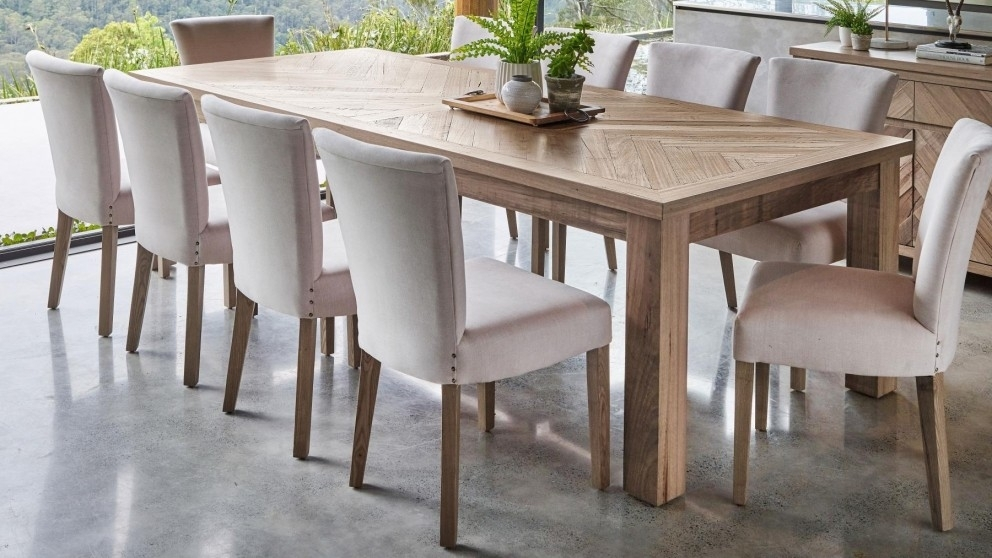Buy Herringbone 270Cm Rectangular Dining Table | Harvey Norman Au For Dining Tables (Image 2 of 25)