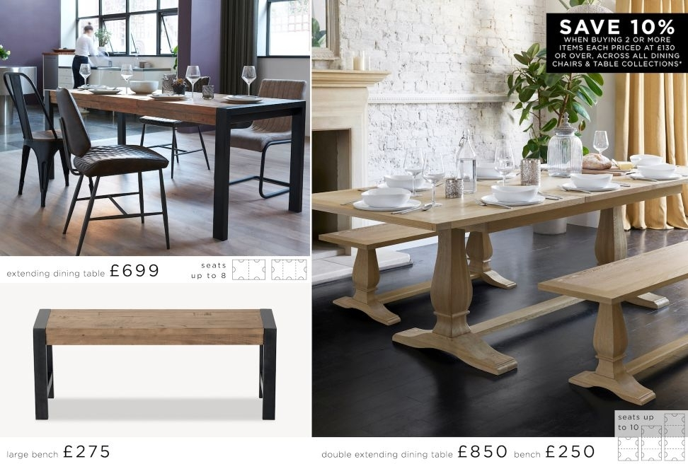 Buy Hudson 6 – 8 Extending Dining Table From The Next Uk Online Shop With Regard To Jaxon Grey 6 Piece Rectangle Extension Dining Sets With Bench & Uph Chairs (View 20 of 25)