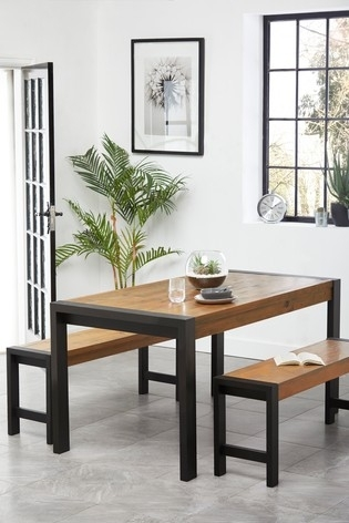 Buy Hudson Dining Table And Bench Set From The Next Uk Online Shop In Next Hudson Dining Tables (Image 5 of 25)