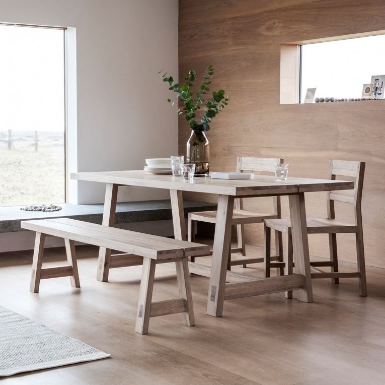 Buy Hudson Living Kielder Oak Dining Table – 240Cm Rectangular Fixed With Regard To Hudson Dining Tables And Chairs (View 21 of 25)