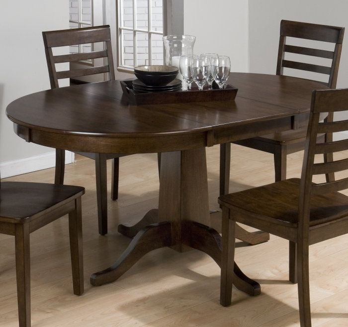 Buy Jofran Taylor Cherry 42X42 Round To Oval Dining Table On Sale In Oval Dining Tables For Sale (Image 4 of 25)