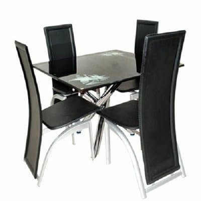 Buy John Cutter Creation Glass Dining Table With 4 Chairs In Table With Regard To Cheap Glass Dining Tables And 4 Chairs (View 17 of 25)