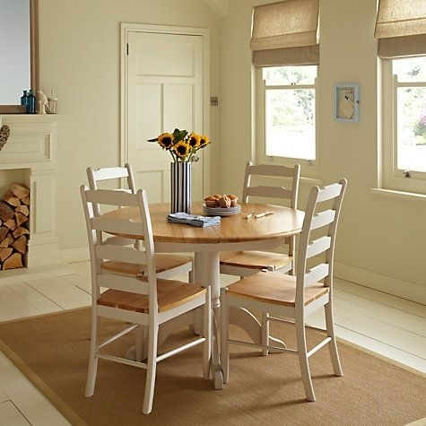 Buy John Lewis Regent Round 4 6 Seater Extending Dining Table Online Regarding Small Round Extending Dining Tables (Image 2 of 25)