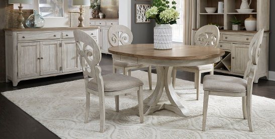 Buy Kitchen & Dining Room Sets Online At Overstock | Our Best In Palazzo 7 Piece Dining Sets With Pearson White Side Chairs (Image 13 of 25)