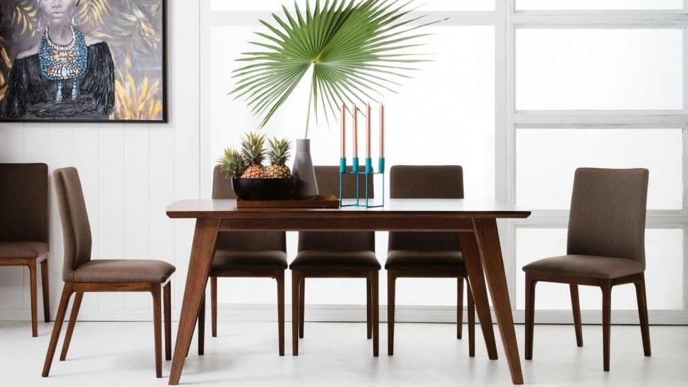 Buy Laren 7 Piece Dining Setting | Domayne Au Within Laurent 7 Piece Rectangle Dining Sets With Wood Chairs (Image 7 of 25)