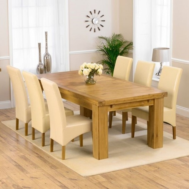 Buy Laurent Xl Dining Set From Oak Furniture House With Roma Dining Tables And Chairs Sets (Image 3 of 25)