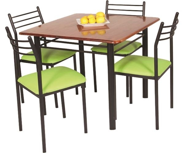 Buy Lelin Four Seater Dining Table Set Online |Buy Metal Cot | Sofa With 4 Seat Dining Tables (Image 9 of 25)