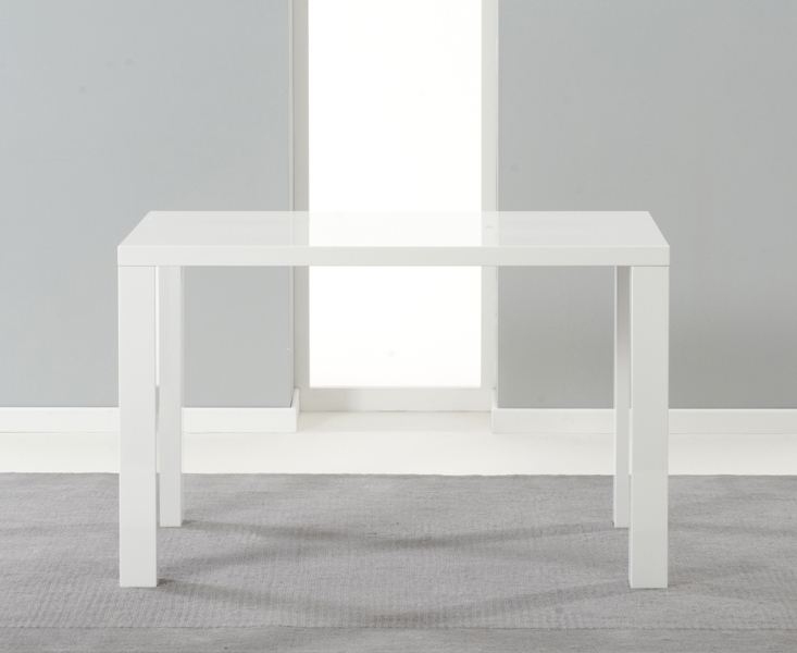Buy Mark Harris Ava White High Gloss Dining Table – 120Cm With Regard To White Gloss Dining Tables 120Cm (Image 7 of 25)
