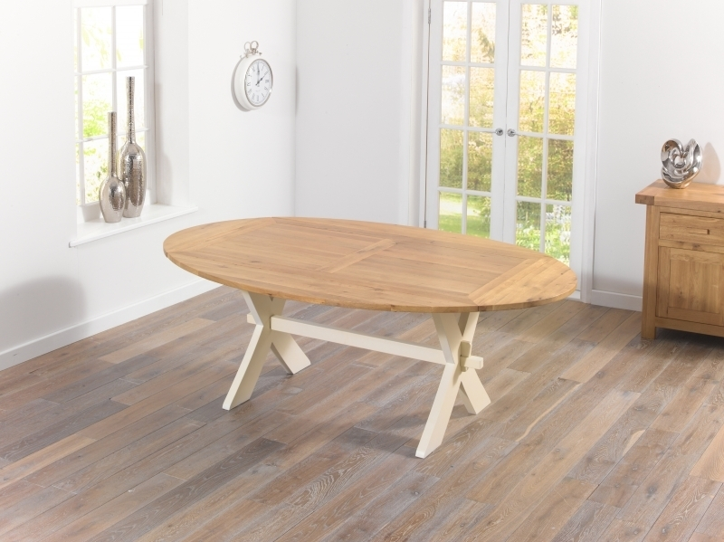 Buy Mark Harris Avignon Oak And Cream Dining Table – 165Cm For Cream And Oak Dining Tables (Image 2 of 25)