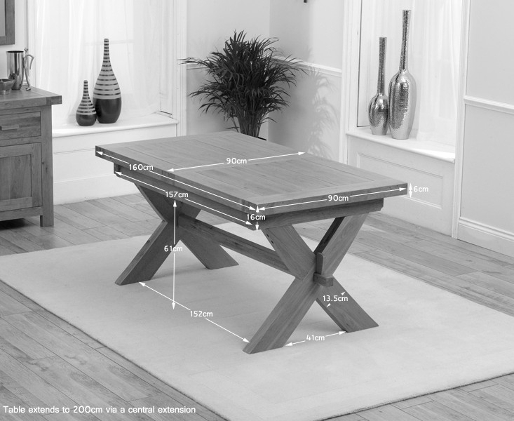 Buy Mark Harris Avignon Solid Oak Dining Table – 160Cm Rectangular In Solid Oak Dining Tables (Image 6 of 25)