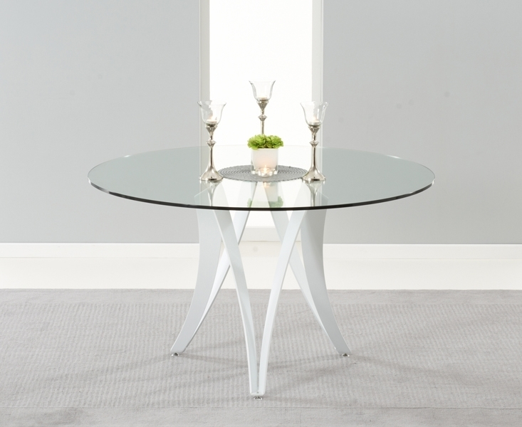 Buy Mark Harris Bellevue White High Gloss Dining Table – 130Cm Round For Round High Gloss Dining Tables (View 14 of 25)