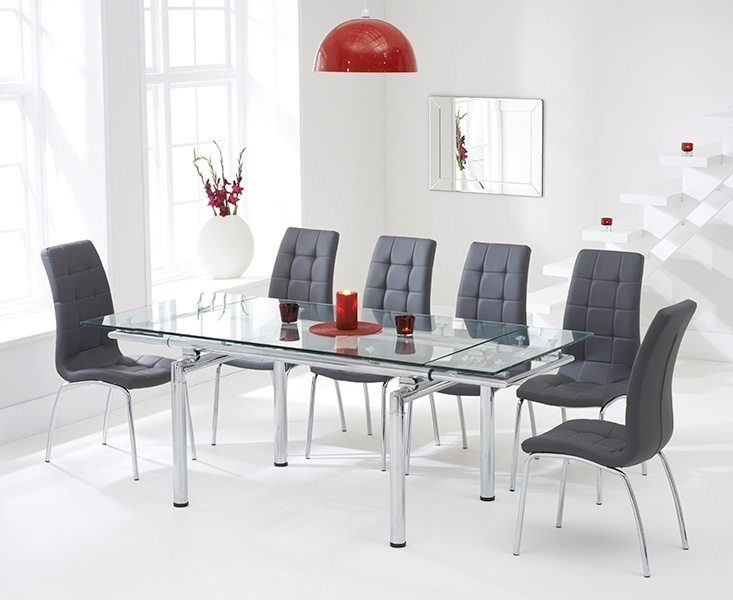 Buy Mark Harris California Grey Faux Leather Dining Chair (Pair For Grey Leather Dining Chairs (Image 1 of 25)
