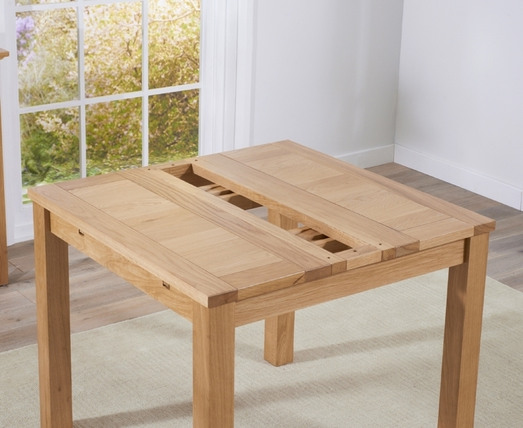 Buy Mark Harris Cambridge Solid Oak Dining Table – 90Cm Square With Regard To Extending Solid Oak Dining Tables (Image 3 of 25)