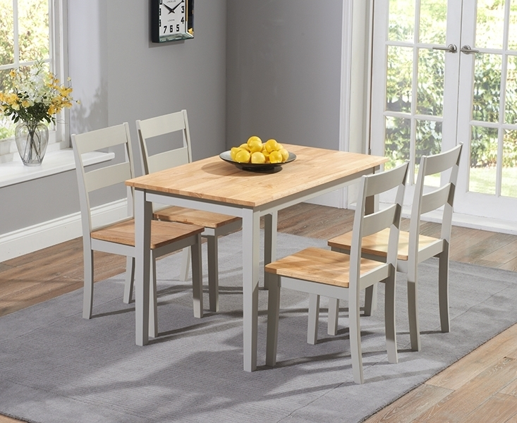 Buy Mark Harris Chichester Oak And Grey Dining Set – 115Cm Within Chichester Dining Tables (View 10 of 25)