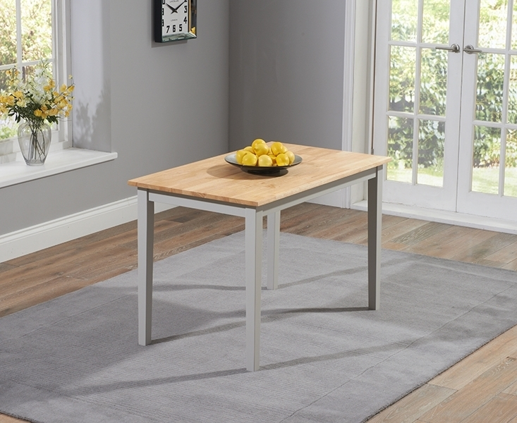 Buy Mark Harris Chichester Oak And Grey Dining Table – 115Cm Intended For Chichester Dining Tables (View 22 of 25)