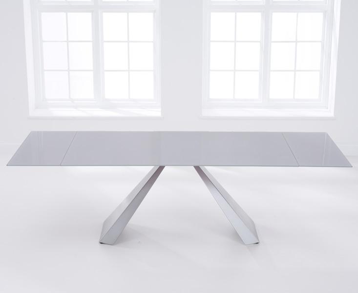 Buy Mark Harris La Linea Light Grey Glass Dining Table – 180Cm Intended For Grey Glass Dining Tables (Image 4 of 25)