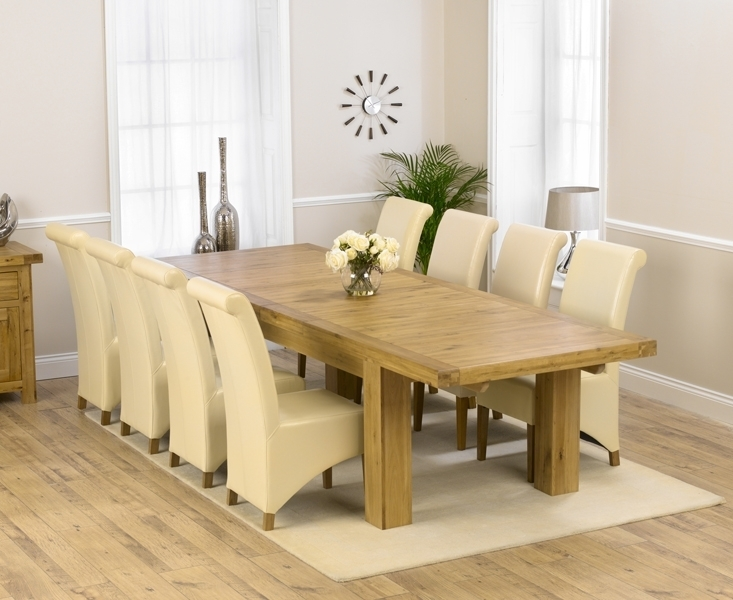 Buy Mark Harris Laurent Solid Oak Dining Set – 230Cm Rectangular With Regard To Laurent 7 Piece Rectangle Dining Sets With Wood Chairs (Image 8 of 25)