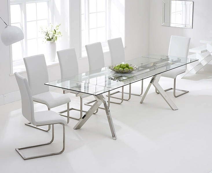 Buy Mark Harris Palazzo Glass Dining Set – 200Cm Rectangular In Palazzo Rectangle Dining Tables (Image 3 of 25)
