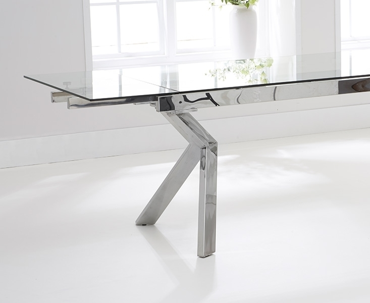 Buy Mark Harris Palazzo Glass Dining Set – 200Cm Rectangular Within Palazzo Rectangle Dining Tables (Image 4 of 25)