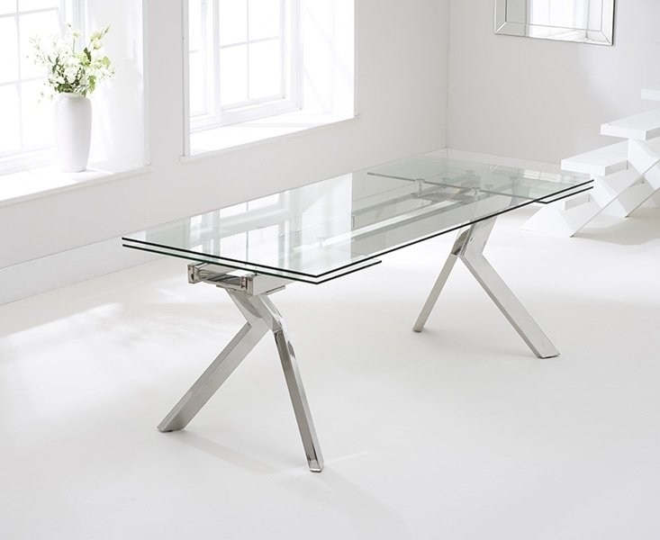 Buy Mark Harris Palazzo Glass Dining Table – 200Cm Rectangular Within Palazzo Rectangle Dining Tables (View 2 of 25)