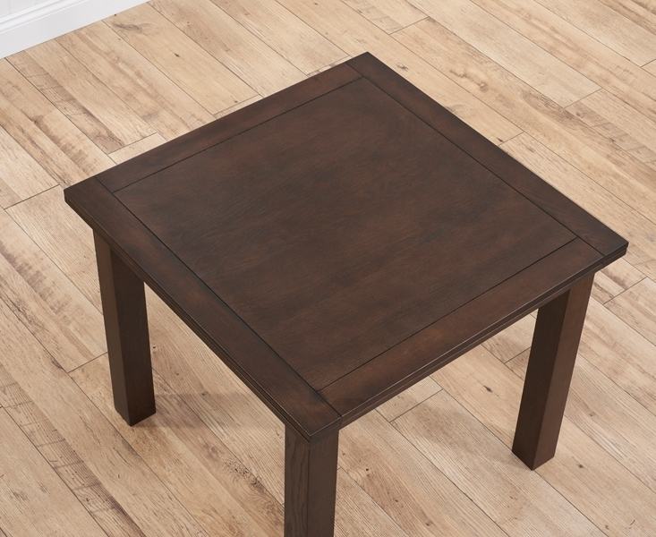 Buy Mark Harris Sandringham Solid Dark Oak Dining Table – 90Cm Regarding Solid Dark Wood Dining Tables (Image 3 of 25)