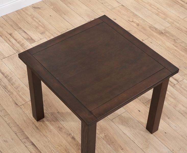 Buy Mark Harris Sandringham Solid Dark Oak Dining Table – 90Cm With Dark Wood Extending Dining Tables (Image 2 of 25)