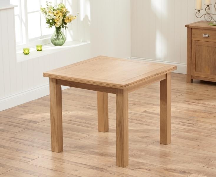 Buy Mark Harris Sandringham Solid Oak Dining Set – 90Cm Square Flip In Square Oak Dining Tables (Image 6 of 25)