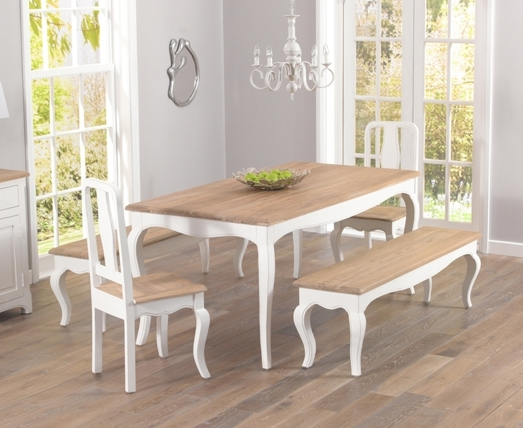 Buy Mark Harris Sienna Shabby Chic Dining Set – 175Cm Rectangular Throughout Shabby Chic Dining Sets (View 8 of 25)