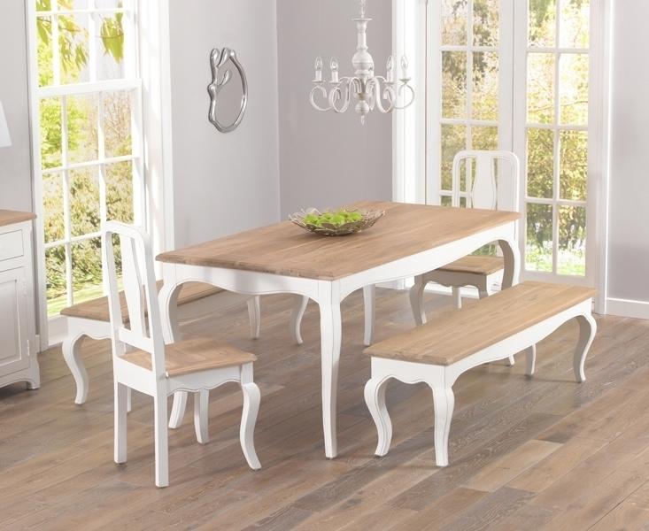 Buy Mark Harris Sienna Shabby Chic Dining Set – 175Cm Rectangular Throughout Shabby Chic Dining Sets (Image 3 of 25)