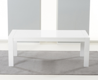 Buy Mark Harris Venice White High Gloss Dining Table – 200Cm For Extending White Gloss Dining Tables (Image 4 of 25)
