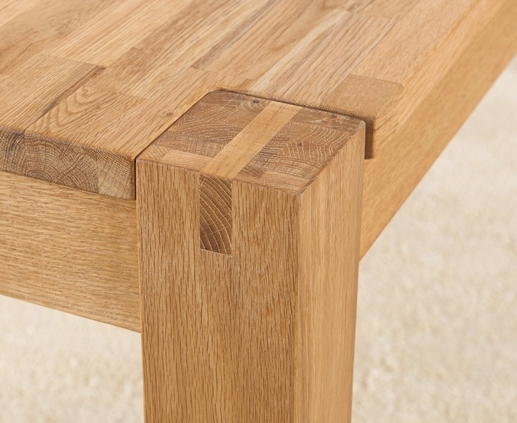 Buy Mark Harris Verona Solid Oak Dining Table – 150Cm Rectangular With Extending Solid Oak Dining Tables (Image 4 of 25)