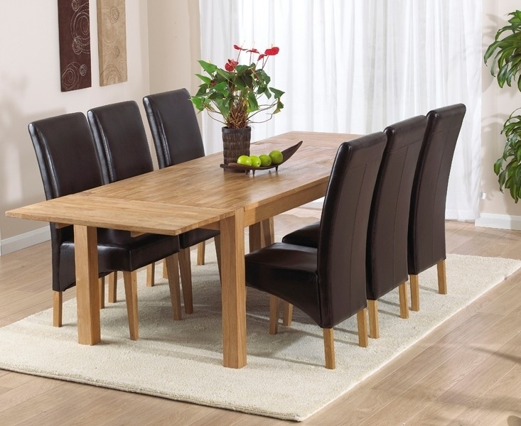Buy Mark Harris Verona Solid Oak Dining Table – 180Cm Rectangular Inside Verona Dining Tables (View 2 of 25)
