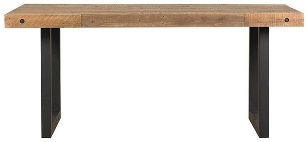 Buy Mark Webster New York Rectangular Dining Table With Metal Legs Throughout Dining Tables New York (Image 4 of 25)