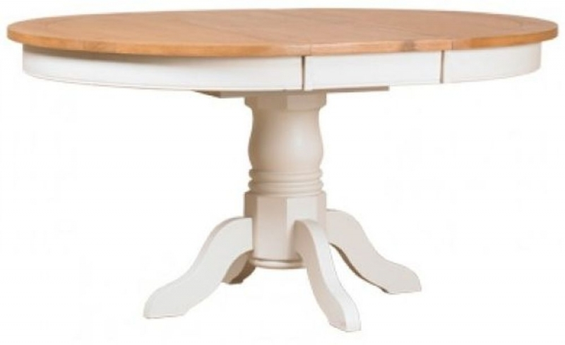 Buy Mark Webster Padstow Painted Round Extending Dining Table With Regard To Round Extending Dining Tables (Image 5 of 25)