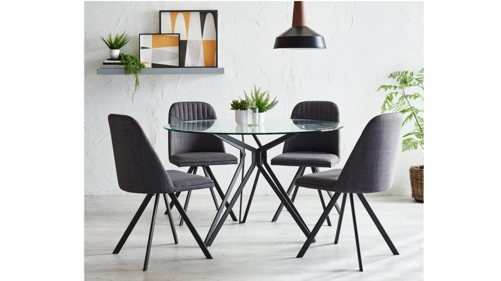 Buy Moon 5 Piece Round Dining Suite | Harvey Norman Au Regarding Harvey Dining Tables (Image 8 of 25)