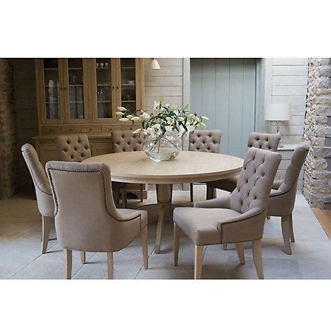Buy Neptune Henley 8 Seater Round Dining Table Online At Johnlewis For Caira Black 5 Piece Round Dining Sets With Diamond Back Side Chairs (View 7 of 25)