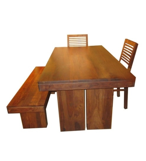 Buy New York Six Seater Dining Set (1T + 4C + 1B)Evok Online For New York Dining Tables (Image 4 of 25)