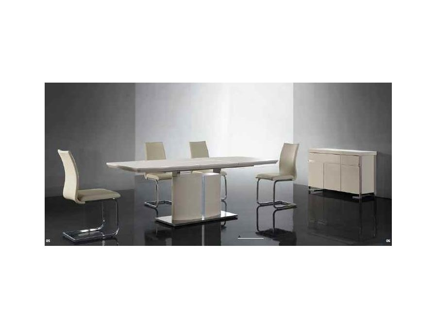 Buy Nora Ivory Cream Gloss Extendable Dining Table 180Cm For Nora Dining Tables (Image 1 of 25)