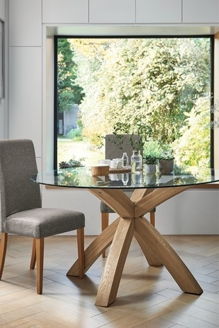 Buy Oak & Glass Round Dining Table From The Next Uk Online Shop For Round Glass And Oak Dining Tables (Image 7 of 25)