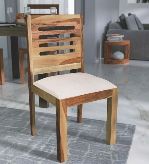 Buy Oregon Solid Wood Dining Chair In Natural Sheesham Finish Inside Sheesham Dining Chairs (Image 4 of 25)